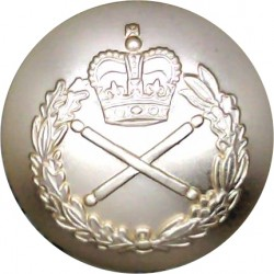 Ulster Defence Regiment 19.5mm - Gold Colour Queen's Crown. Anodised Aluminium Staybrite military uniform button