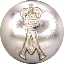Grenadier Guards 14mm - Gold Colour Queen's Crown. Anodised Aluminium Staybrite military uniform button