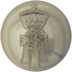 6th Queen Elizabeth's Own Gurkha Rifles 25mm - Black Queen's Crown. Plastic Military uniform button