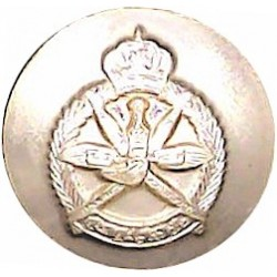 6th Queen Elizabeth's Own Gurkha Rifles 19mm - Black Queen's Crown. Plastic Military uniform button