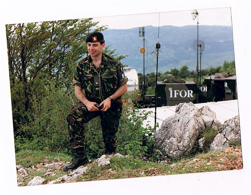 Major Ian Kelly in Bosnia - 1996