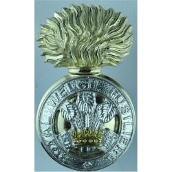 Welsh Brigade Anodised Staybrite army cap badge