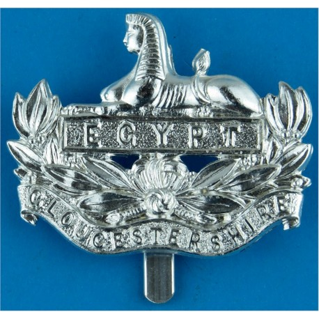 Gloucestershire Regiment (Clipped Slider) Front Badge Pre-1993  Anodised Staybrite army cap badge