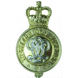 7th Queen's Own Hussars - 1955-58 Firmin London  Anodised Staybrite army cap badge