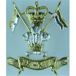 9th/12th Royal Lancers (Prince Of Wales's) 1960-2015 with Queen Elizabeth's Crown. Anodised Staybrite army cap badge