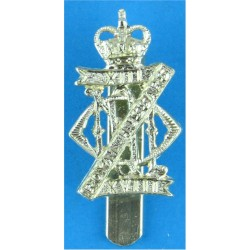 13th/18th Royal Hussars (Queen Mary's Own) Pre-1993 with Queen Elizabeth's Crown. Anodised Staybrite army cap badge