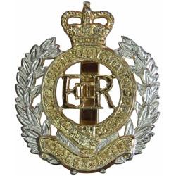 Royal Engineers EiiR - Post-1952 with Queen Elizabeth's Crown. Anodised Staybrite army cap badge