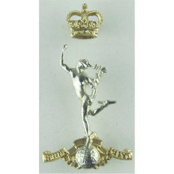 Kent & County of London Yeomanry (Sharpshooters) with Queen Elizabeth's Crown. Anodised Staybrite army cap badge