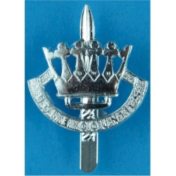 Leeds Rifles (The Prince Of Wales's Own) With Tank Anodised Staybrite army cap badge