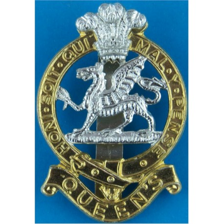 Robin Hood Battalion: Sherwood Foresters  with Queen Elizabeth's Crown. Anodised Staybrite army cap badge