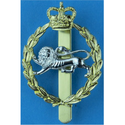 King's Own Royal Border Regiment  with Queen Elizabeth's Crown. Anodised Staybrite army cap badge