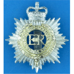 Royal Corps of Transport 1965-1993 with Queen Elizabeth's Crown. Anodised Staybrite army cap badge
