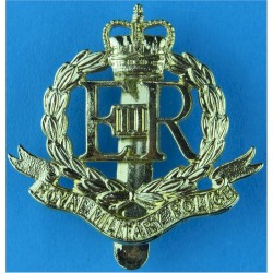Royal Military Police  with Queen Elizabeth's Crown. Anodised Staybrite army cap badge
