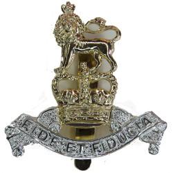Duke Of Edinburgh's Royal Regiment On Slider - Pre-1993 Anodised Staybrite army cap badge
