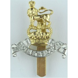 Royal Army Pay Corps Full Size with Queen Elizabeth's Crown. Anodised Staybrite army cap badge
