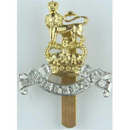 Duke Of Edinburgh's Royal Regiment On Slider - Pre-1993 Anodised Staybrite army cap badge