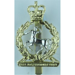 Royal Army Veterinary Corps  with Queen Elizabeth's Crown. Anodised Staybrite army cap badge