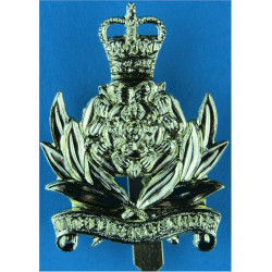 Intelligence Corps  with Queen Elizabeth's Crown. Anodised Staybrite army cap badge