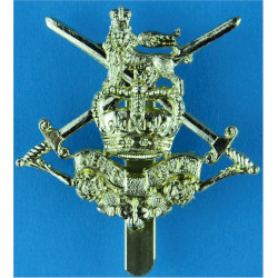Infantry Junior Leaders Battalion  with Queen Elizabeth's Crown. Anodised Staybrite army cap badge