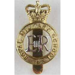 Duke Of York's Royal Military School: Dover Dowler, Birmingham with Queen Elizabeth's Crown. Anodised Staybrite army cap badge