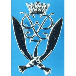 7th Duke Of Edinburgh's Own Gurkha Rifles Voided Centre  Anodised Staybrite army cap badge