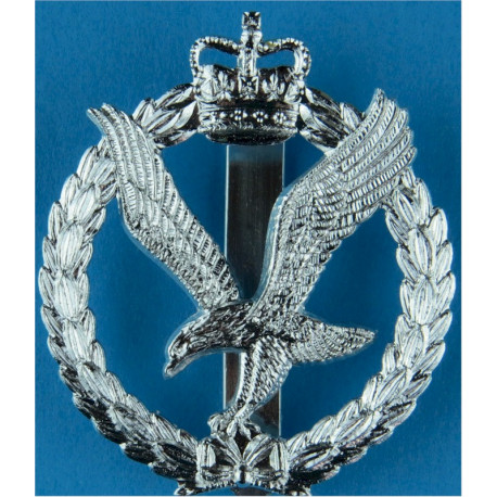 Army Air Corps  with Queen Elizabeth's Crown. Anodised Staybrite army cap badge