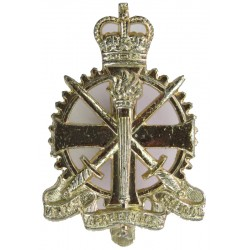 Army Apprentices School  with Queen Elizabeth's Crown. Anodised Staybrite army cap badge