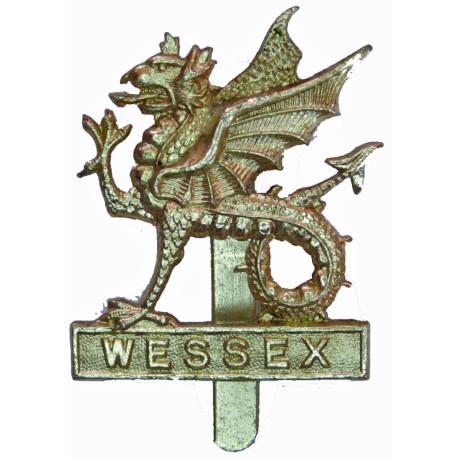 Wessex Brigade - Also Worn By Wessex Regiment (V) Wyvern  Anodised Staybrite army cap badge