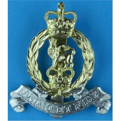 Adjutant General's Corps Beret Size - 46mm with Queen Elizabeth's Crown. Anodised Staybrite army cap badge