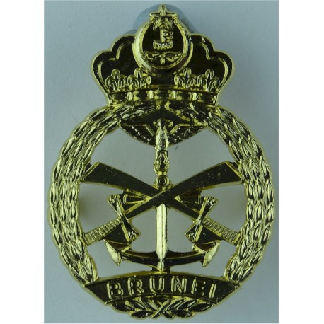 Royal Brunei Armed Forces   Anodised Staybrite army cap badge