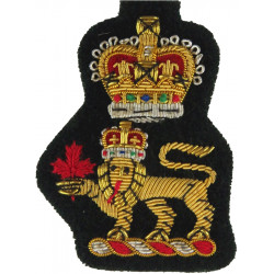 Brigadiers' & Colonels' Cap Badge Canadian Army with Queen Elizabeth's Crown. Bullion wire-embroidered Officers' cap badge