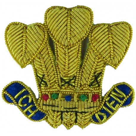 Royal Army Service Corps 1952-1965 with Queen Elizabeth's Crown. Chrome, gilt and enamel Officers' metal cap badge