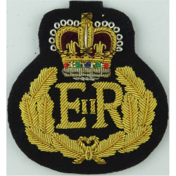 Governor Of A British Overseas Territory QC / EiiR Oak Wreath with Queen Elizabeth's Crown. Bullion wire-embroidered Officers' c