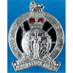 Army Legal Corps (not Services) Post-1978 with Queen Elizabeth's Crown. Silver-plated and enamel Officers' metal cap badge
