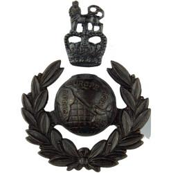 Royal Marines Officers 2-Part with Queen Elizabeth's Crown. Bronze Officers' metal cap badge