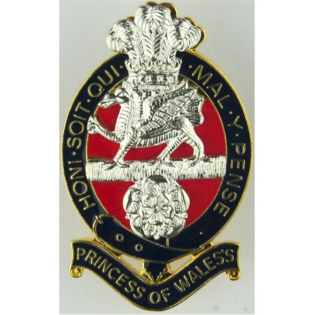 South African Corps Of Chaplains (Christian) Silver-plated, gilt and enamel Officers' metal cap badge