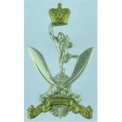 The Royal Welsh With Scroll  Bronze Officers' metal cap badge