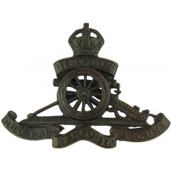 Royal Artillery - Full Size - For Service Dress Separate Wheel with King's Crown. Bronze Officers' metal cap badge