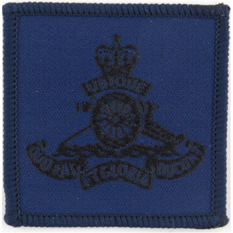Princess Of Wales's Royal Regiment Black On Olive Green  Embroidered Other Ranks' cap badge