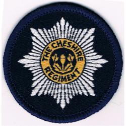 Cheshire Regiment 50mm Diameter Badge  Woven Other Ranks' cap badge