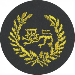 King's Own Royal Border Regiment (WO/SNCO's Sidehat) On Dark Blue Circle  Embroidered Other Ranks' cap badge