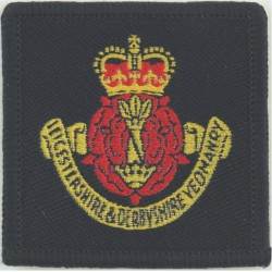 King's School Canterbury Combined Cadet Force   Woven Other Ranks' cap badge