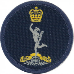 Canadian Armed Forces Military Engineering Branch Green Bush Hat Badge Queen's Crown. Embroidered Other Ranks' cap badge