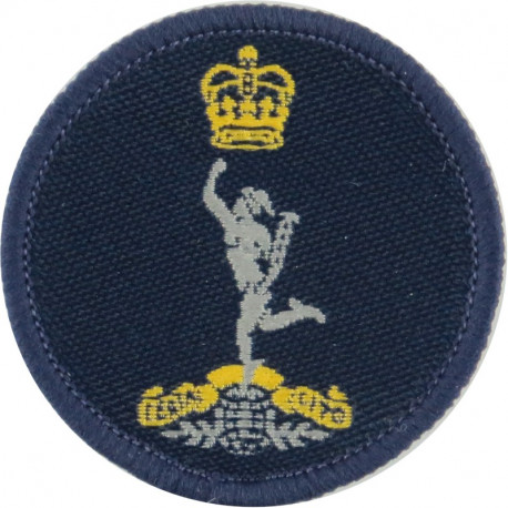 Canadian Armed Forces Military Engineering Branch Green Bush Hat Badge with Queen Elizabeth's Crown. Embroidered Other Ranks' ca