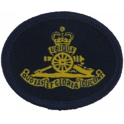 Canadian Forces Military Police Green Bush Hat Badge Queen's Crown. Embroidered Other Ranks' cap badge