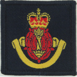 Canadian Armed Forces Medical Branch Green Bush Hat Badge with Queen Elizabeth's Crown. Embroidered Other Ranks' cap badge