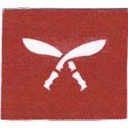 6th Queen Elizabeth's Own Gurkha Rifles Crossed Kukris  Printed Other Ranks' cap badge