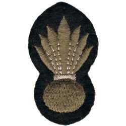 Grenadier Guards Khaki Grenade  Embroidered Other Ranks' cap badge
