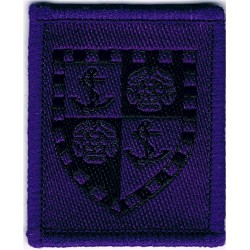 Howard School Combined Cadet Force On Purple Rectangle  Woven Other Ranks' cap badge
