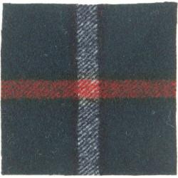 Royal Highland Fusiliers (63mm Mackenzie Square)   Tartan Other Ranks' cap badge